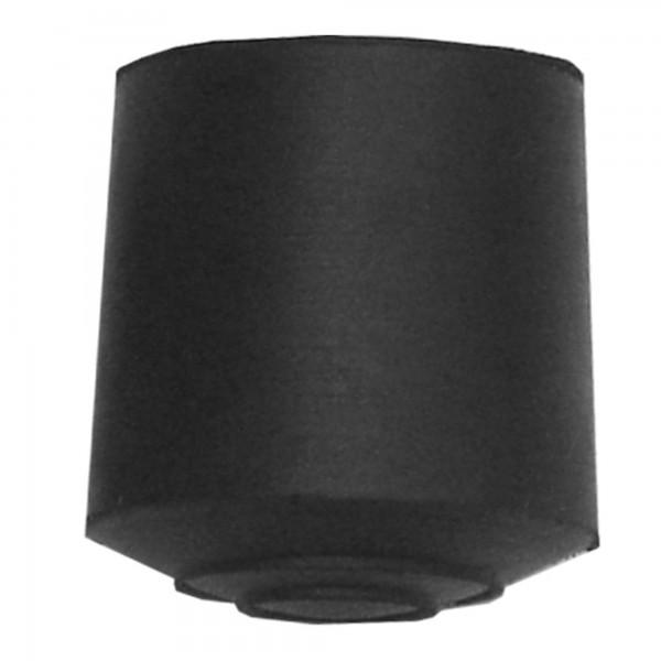 Contera goma cilindrica 38 mm. negra