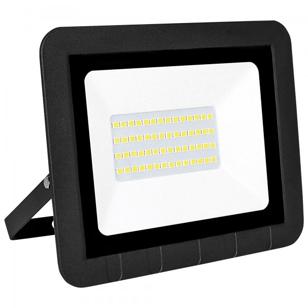 Proyector led plano negro   30w.fria