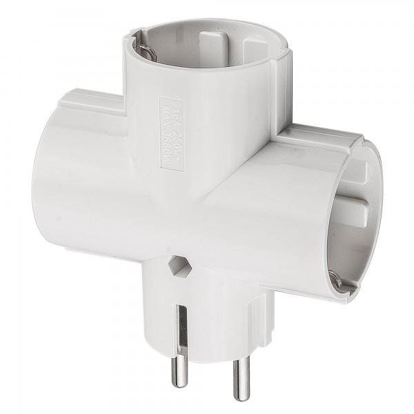 Adaptador onlex 10/16a.4,8mm.3t.blanco