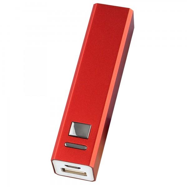 Powerbank recargable onlex 2600mah roja