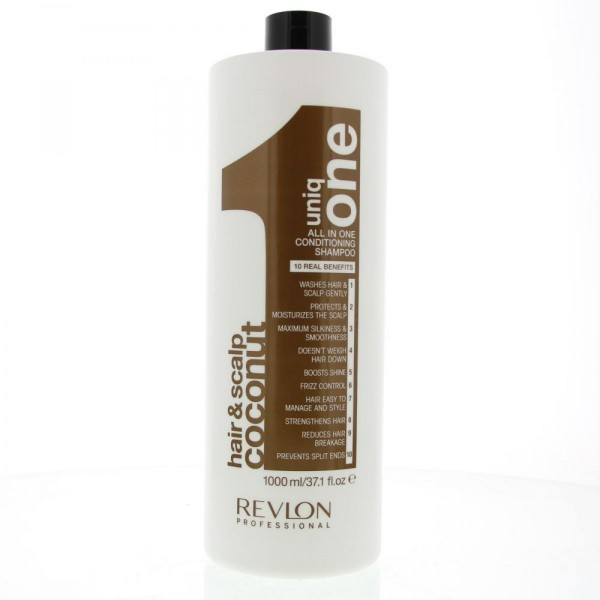 Revlon uniq one hair&scalp coconut all in one conditioning shampoo 1000ml