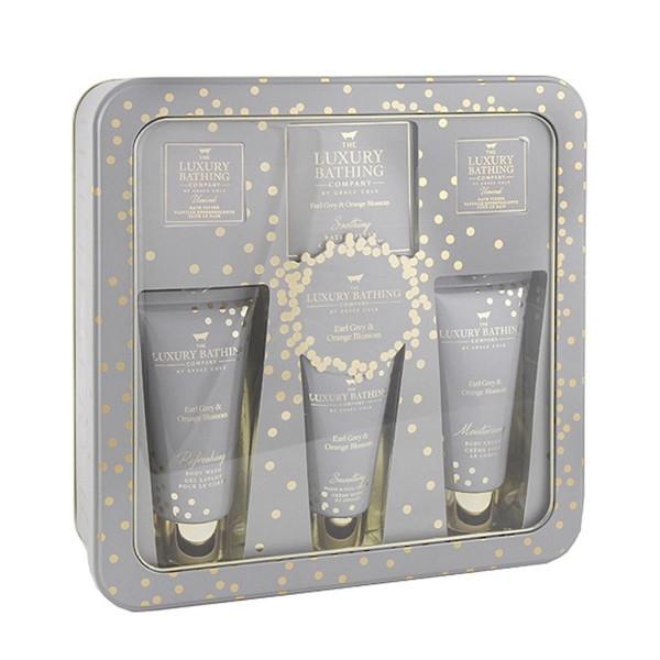Grace cole earl grey&orange gel de baño 100ml + crema corporal 100ml + crema de manos 50ml + pastilla efervescente