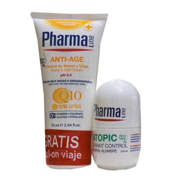 Pharmaline antiedad crema de manos 75ml + atopic desodorante control 25ml