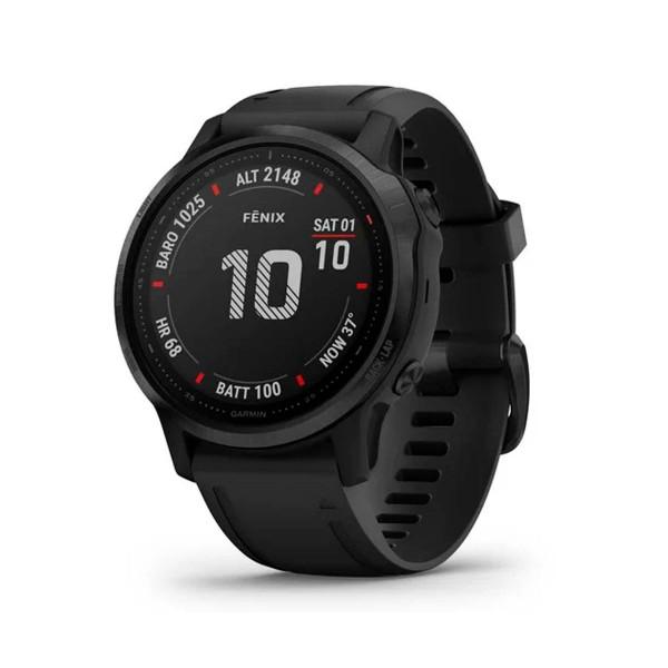 Garmin fénix 6s pro negro con correa negra 42mm smartwatch premium multideporte gps integrado wifi bluetooth
