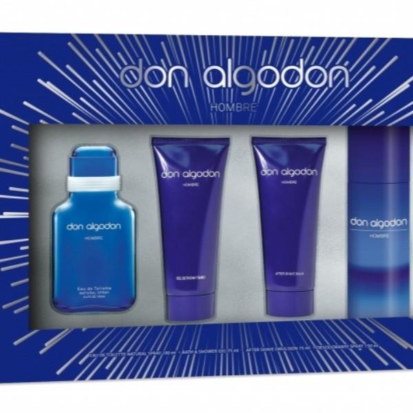 Don Algodón Hombre Pack Colonia 100ml + After Shave 75 ml + Gel de Ducha 75 ml + Desodorante Spray 150 ml