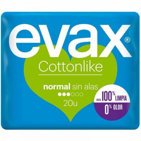 Evax cottonlike normal sin alas 20 uds