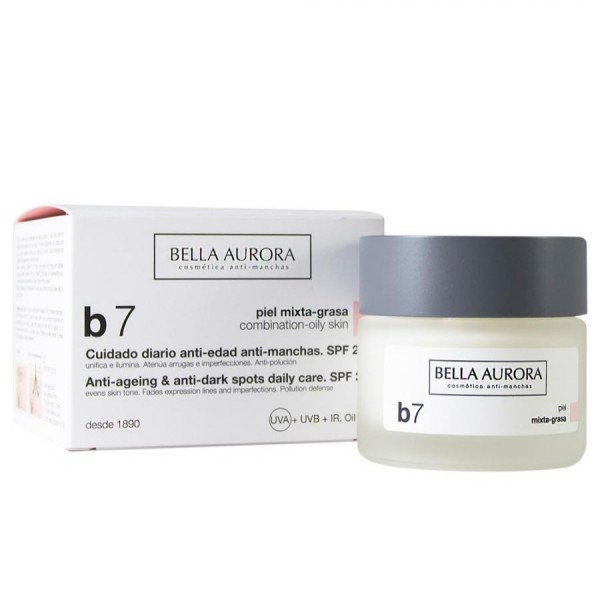 Bella aurora b7 crema anti-manchas facial pieles mixtas spf15 50ml