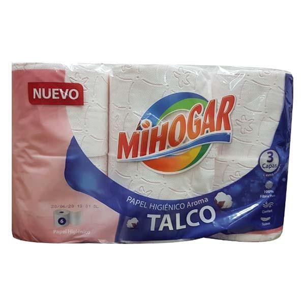 Mihogar papel higiénico Talco 3 capas 6 rollos