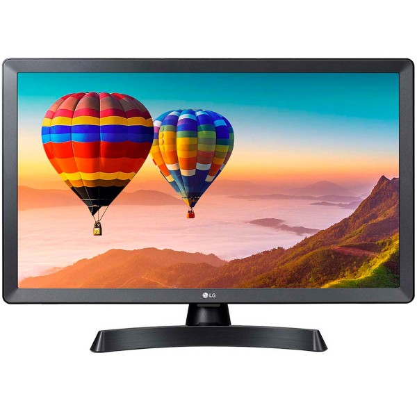 Lg 24tn510s-pz televisor monitor 24'' led hd smart tv hdmi usb lan wifi bt compuesto componentes auriculares