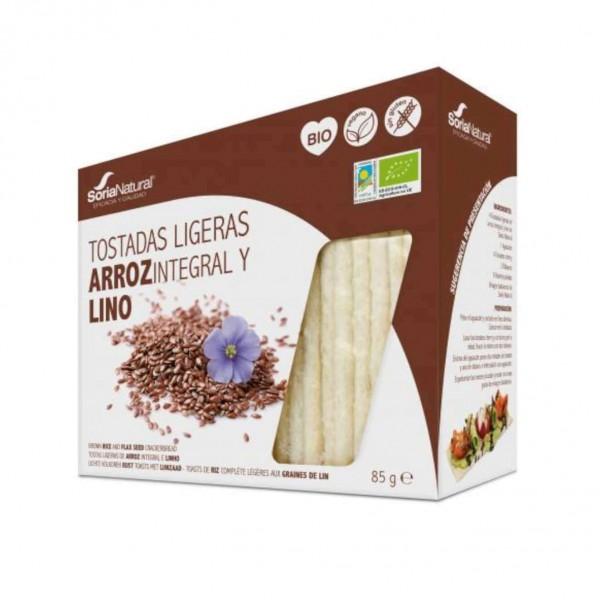 TOSTADAS LIGERAS DE ARROZ Y LINO 25U