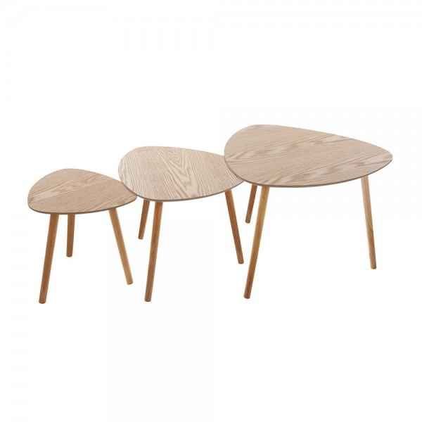 Juego de mesas de centro de madera modelo mileo