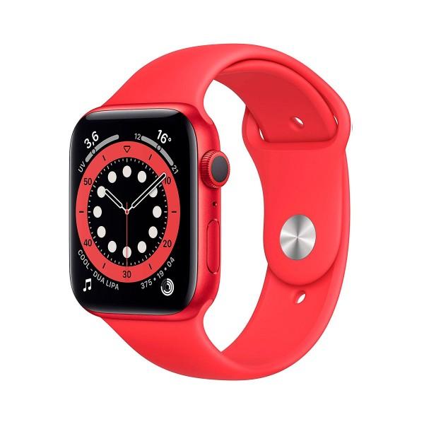 Apple watch series 6 /gps/44mm/caja de aluminio en rojo/correa deportiva (product) red/app oxígeno en sangre/app ecg
