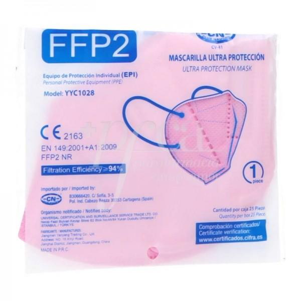 MASCARILLA FFP2 ROSA 1 UD BERBOIS