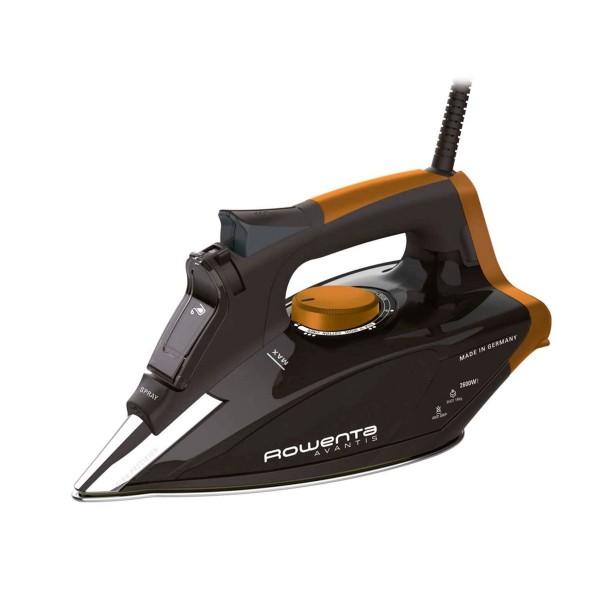Rowenta dw5141 focus/plancha de vapor/2600w/suela microsteam 400 platinum cobre/400 microagujeros/190 g/m/0,3 l