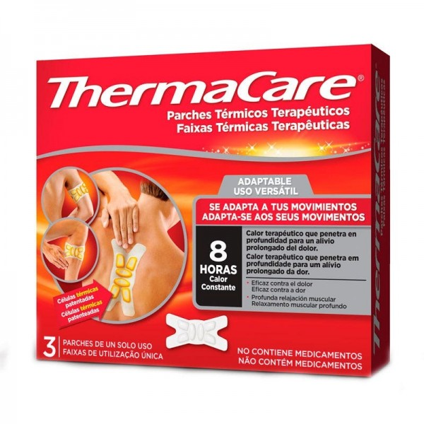 THERMACARE ADAPTABLE 3 PARCHES TERM